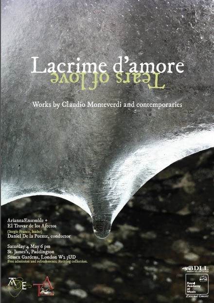 tears of love, lacrime d'amore, Monteverdi