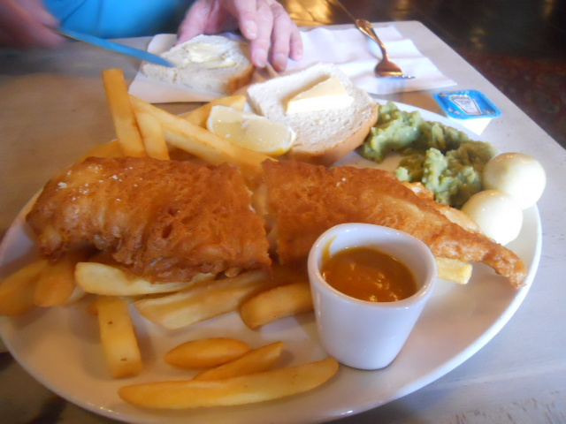 the anchor bankside, the cod father, fish & chips