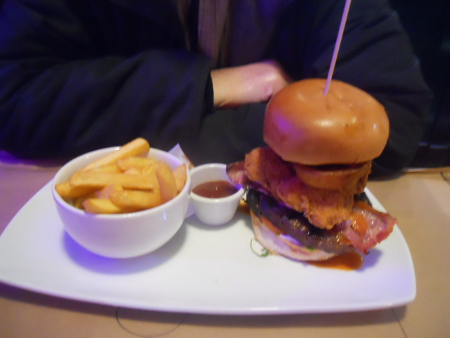 bogan bingo, the slug, fulham, Trev's Towering Inferno Burger, burger