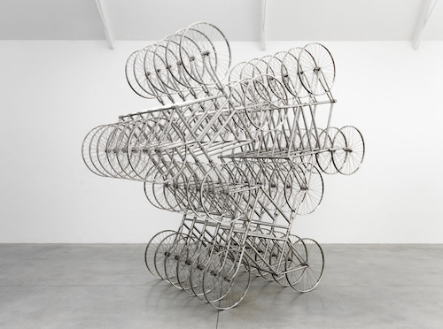 ai weiwei, lisson gallery, forever, bicycles