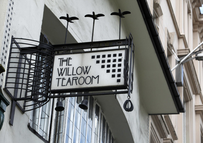 art nouveau places to visit, willow tea rooms, glasgow, charles rennie mackintosh