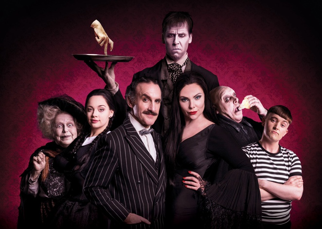 Addams family, Birmingham hippodrome, tour, review, les Dennis, Samantha Womack,