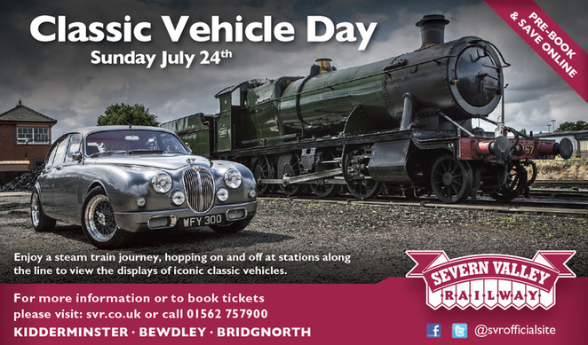 Severn valley railway, classic vehicle day, july 24, family days out Midlands