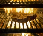 Frame-grilled steak