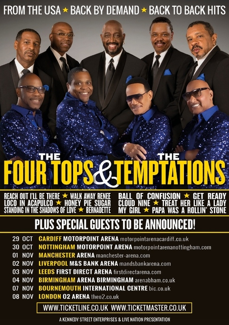 Four Tops, The Temptations