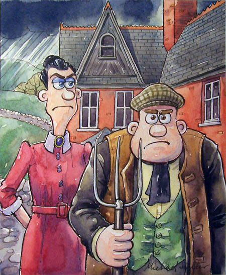 illustration cupboard, Yorkshire Gothic by Aardman Animation Studios