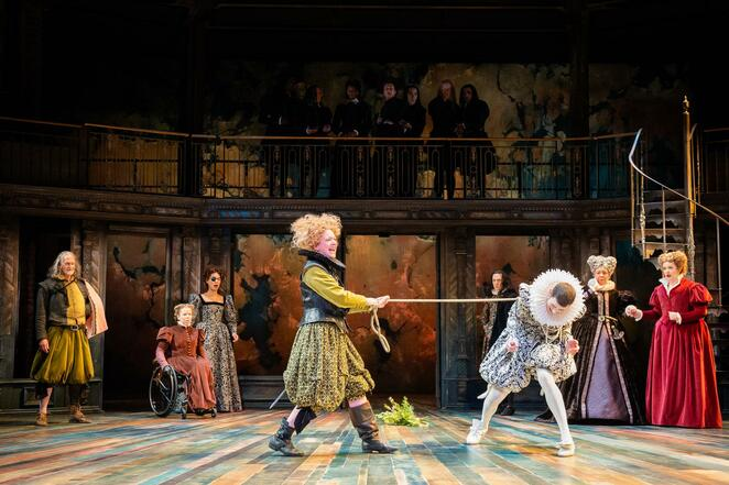 RSC, Taming of the shrew, Justin Audibert, Claire Price