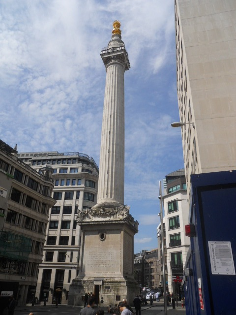 the monument, fire of london