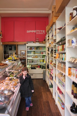 The interior of Appetite Kitchen and Deli