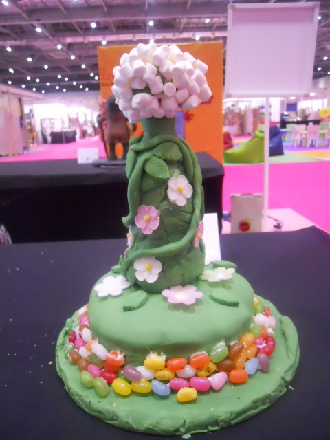cake and bake show, jellybean stalk cake, bean stalk, jack and the beanstalk, jellybeans, cake competition