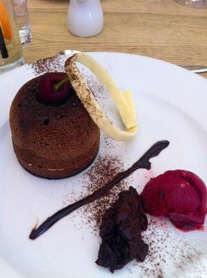 chocolate fondant, clarice house day spa food, clarice house day spa, clarice house restaurant, day spa food