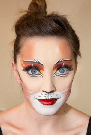 Cat makeup transformation4