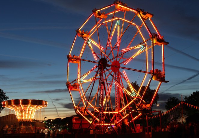 fair, festival, ride, ferris wheel, christmas