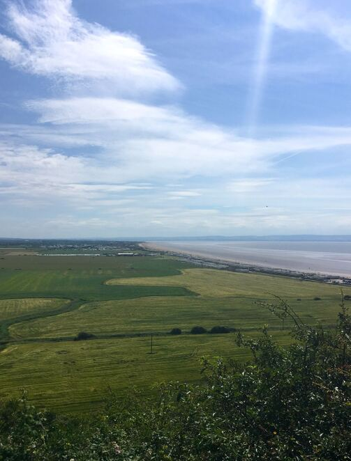 view,national trust,brean down,england,walking,seaview,fort,summer