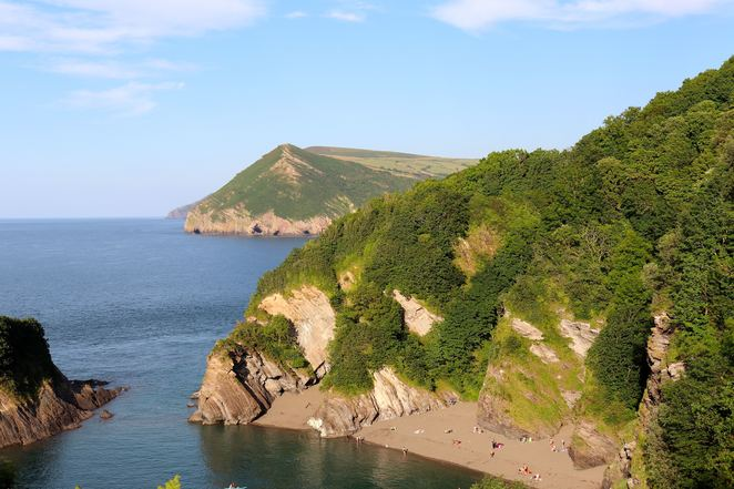 beach, broadsands, devon, ocean