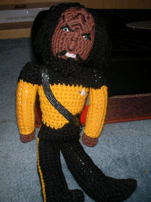 collectormania, convention, worf, knitting, doll, star trek