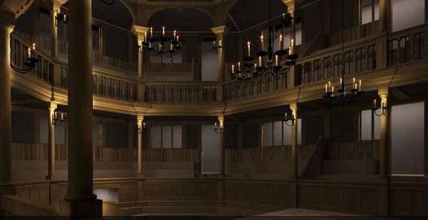 Computer Generated Image of the Inside of the Sam Wanamaker Indoor Playhouse
