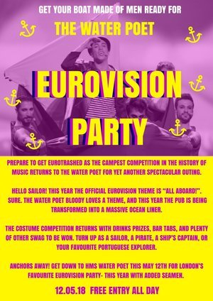 Eurovision Song Contest the Water Poet 12 May 2018