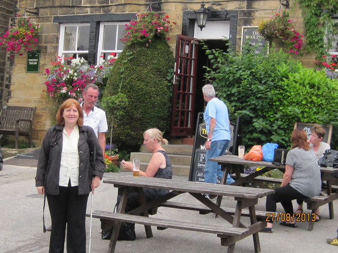M outside the Woolpack