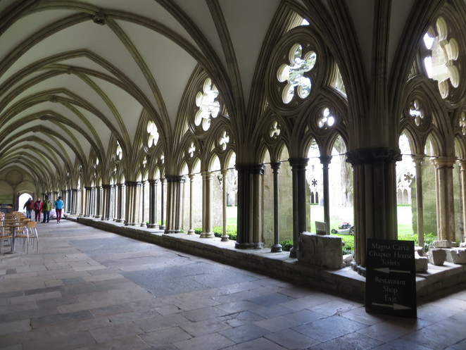 salisbury, cathedral, cloisters