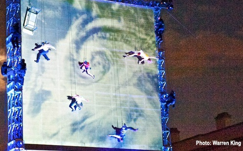 As The World Tipped, Hippodrome, Aerial theatre,