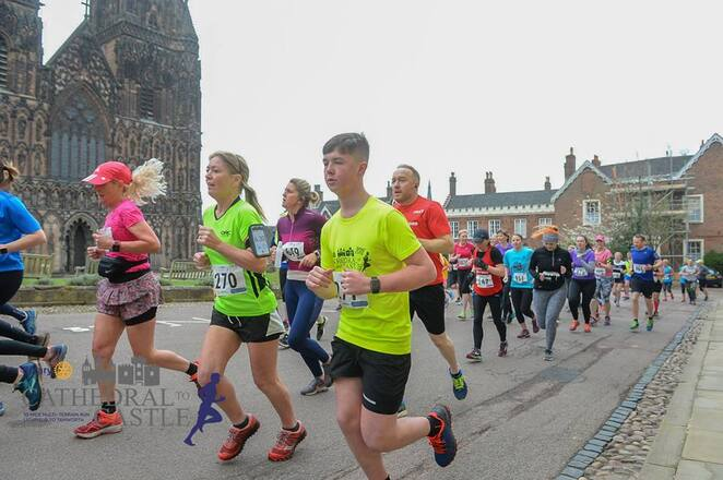 Cathedral to Castle Run, Lichfield Cathedral