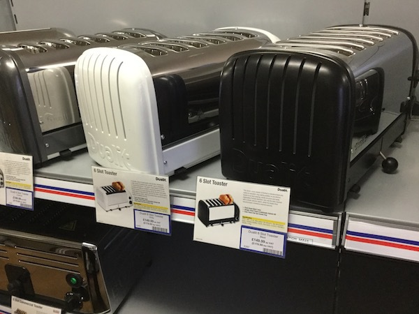 nisbets, catering supplies, toaster