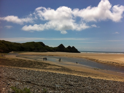 Three Cliffs bay, beach, swansea, gower