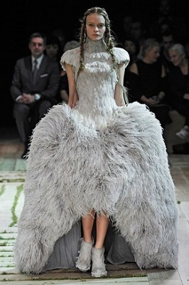 Alexander McQueen's 2011 Creation Made From Feathers