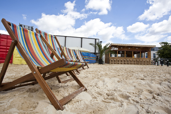 camden beach, roundhouse, deck chairs