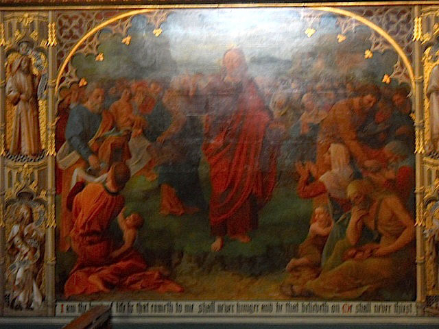 croydon Minster, church, victorian fresco, feeding of the five thousand,