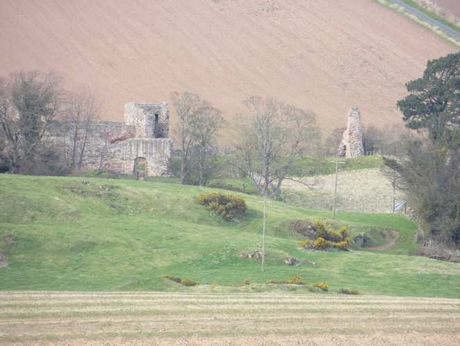 hailes castle, traprain law, east lothian, scotland, edinburgh