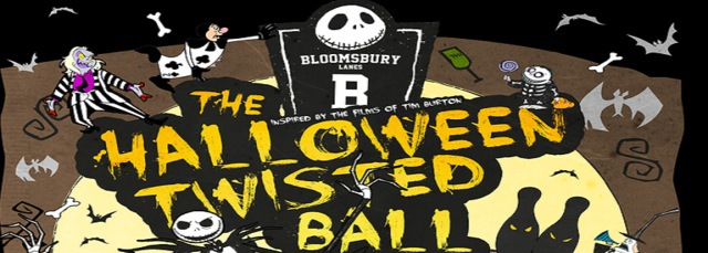 the halloween twisted ball, bloomsbury lanes, bowling