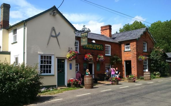 the ridley brewery tap the compasses littley green