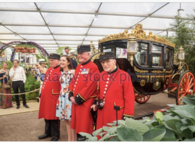 The Royal State Coach The Chelsea Flower Show Jim Frecklington Designer and builder of The Queens State Coaches