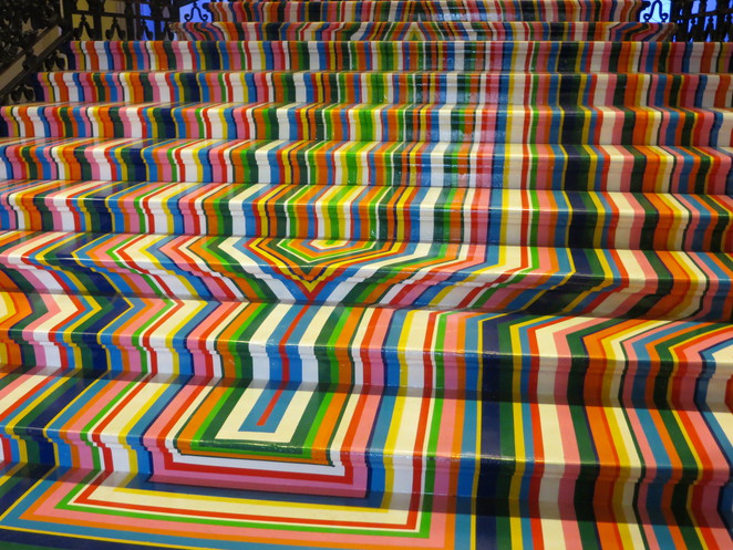 zobop, jim lambie staircase royal academy