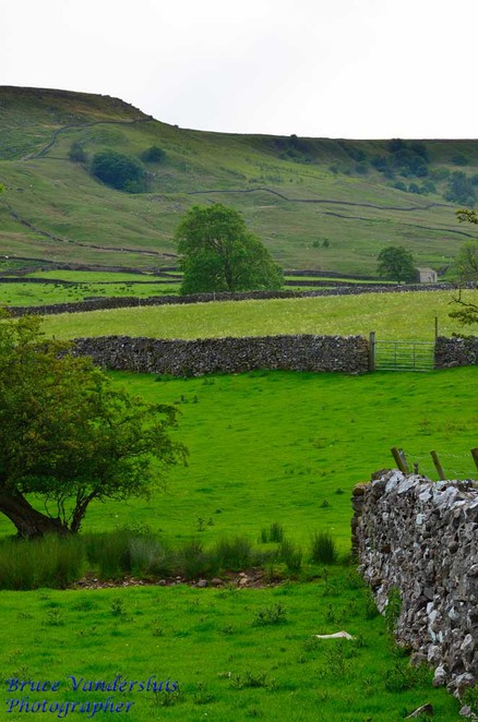 Burnsall, Yorkshire, United Kingdom, green fields
