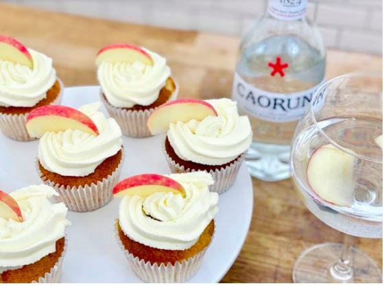 caorunn gin cupcake recipe, gin and tonic cupcakes