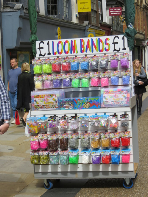 loom, bands, street, oxford, cornmarket, stall