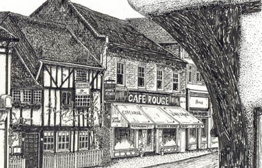 Print of Pinner High Street by Clive Baxter