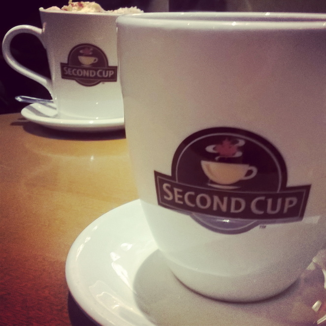Second cup, cafe, Manchester cafes, coffee shop, coffee, tea, Manchester arndale, Second Cup