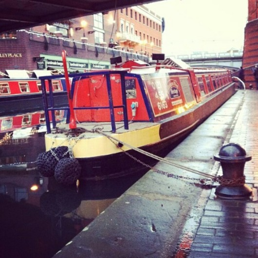 Brindley Place, canals,