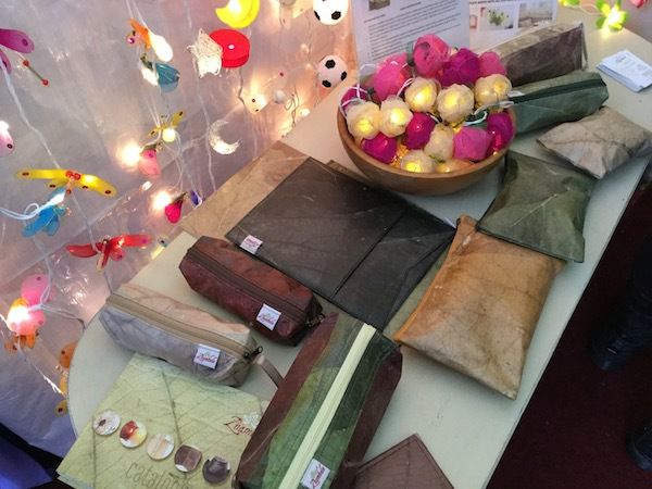 eden crafts, market, kingston, christmas, frogs in a jar, zhambala, eco-friendly, leaves, wallets, pencil cases