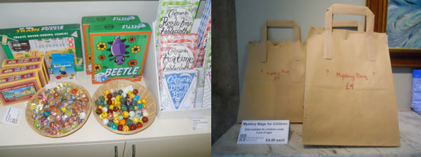 honeywood museum, gift shop, marbles, mystery bag