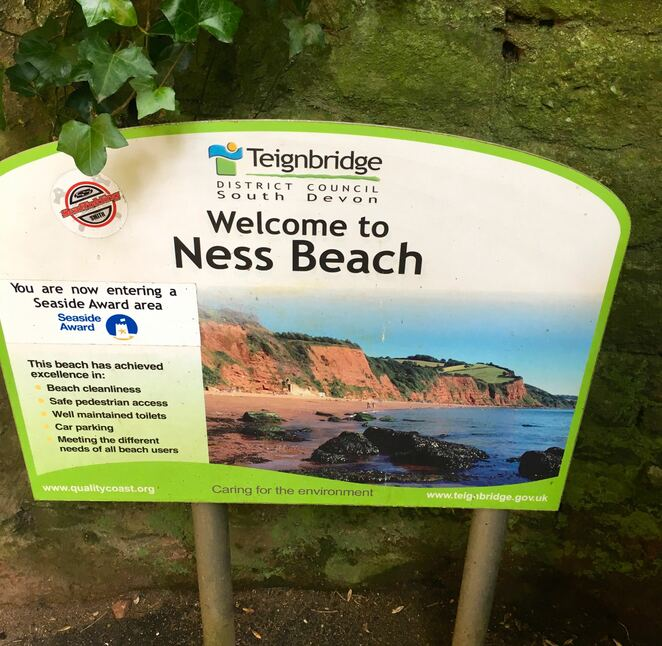 ness beach,hidden tunnel,smugglers tunnel,cornwall,visit teignmouth