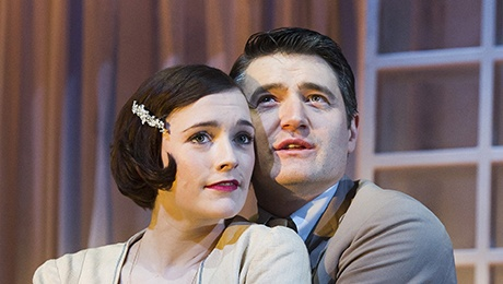 Tom Chambers with Charlotte Ritchie in the theatre tour of Private Lives, Holby City, Waterloo Road, Strictly, Top Hat