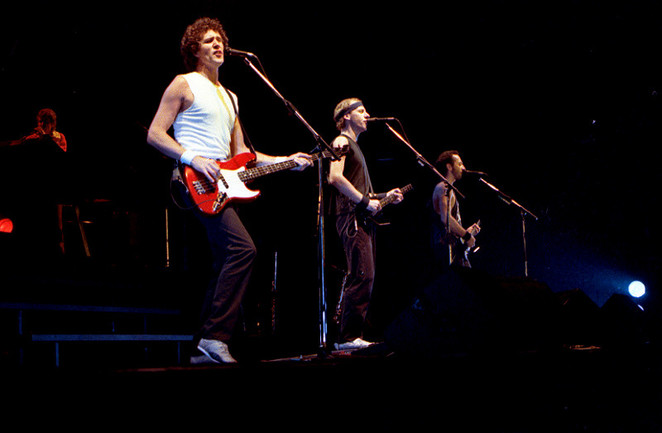 Dire Straits, rock band, Money for nothing, singing, music, concert, rock night, Manchester, Palace theatre