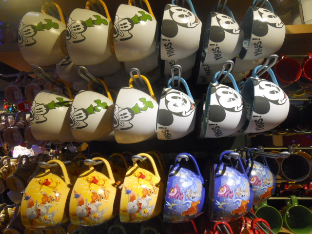 disney store, soup mugs