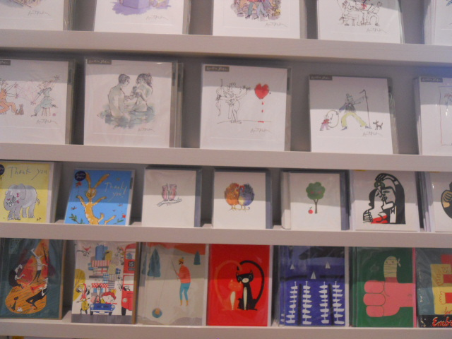 house of illustration, king's cross, gift shop, cards