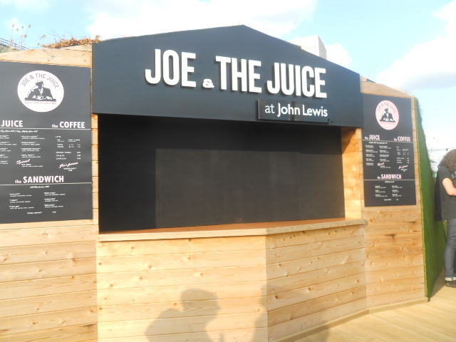 john Lewis, oxford street, on blackheath, roof terrace, joe and the juice